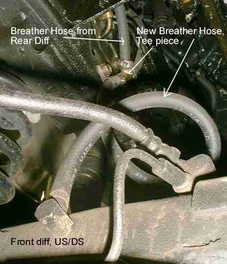 Diff & Gearbox breather extension